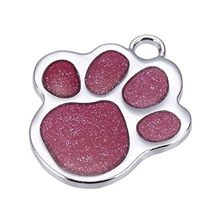 693fc7427efd Embiofuels(TM) Personalized Pet Dog Tag Glitter Custom Engraved Feet Card  Dogs Cat ID