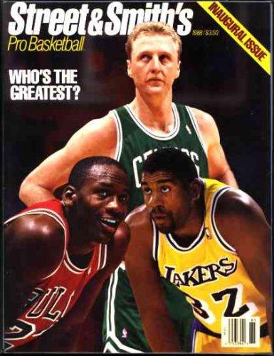 Larry Bird Cover - Street & Smith's Pro Basketball Guide 1988 (Michael Jordan, Magic Johnson, Larry Bird Cover)