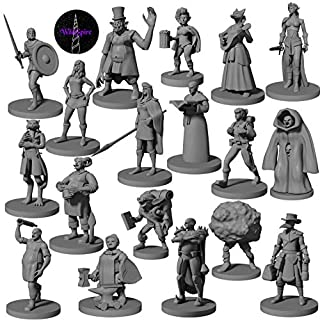 18 Townsfolk & Hero Miniatures for DND Miniatures D&D Figurines Dungeon and Dragons Miniature Figures | for D&D Minis 5e Edition Figurines