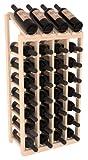 Wine Racks America Ponderosa Pine 4 Column 8 Row Display Top Kit. 13 Stains to Choose From!