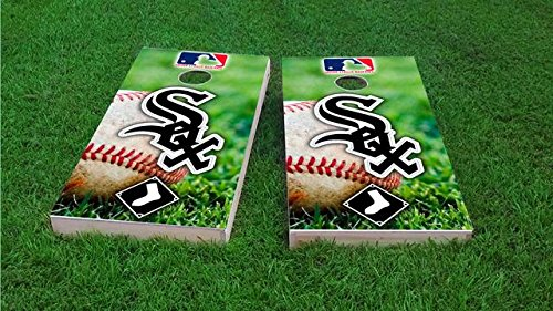 Tailgate Pro's Chicago Baseball Cornhole Boards, ACA Corn Hole Set, Comes with 2 Boards and 8 All Weather Bags Chicago White Sox Bean Bag
