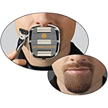 My Perfect Goatee - Men's Shaving Template - Create a Perfectly Shaped Goatee Every Time - Easy to Use and Clean - Adjustable and Fits Most Faces – Saves Van Dyke Beard Shaving Time - by GoateeSaver