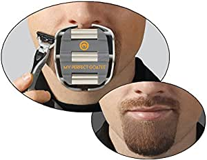 My Perfect Goatee - Men's Shaving Template - Create a Perfectly Shaped Goatee Every Time - Easy to Use and Clean - Adjustable and Fits Most Faces - Saves Van Dyke Beard Shaving Time - by GoateeSaver