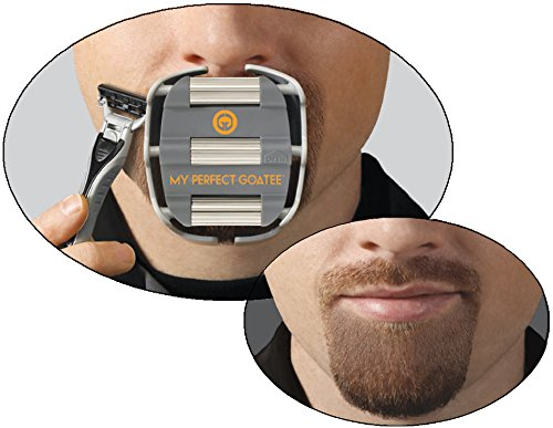 my perfect goatee men 39 s shaving template create a perfectly shaped go. Black Bedroom Furniture Sets. Home Design Ideas