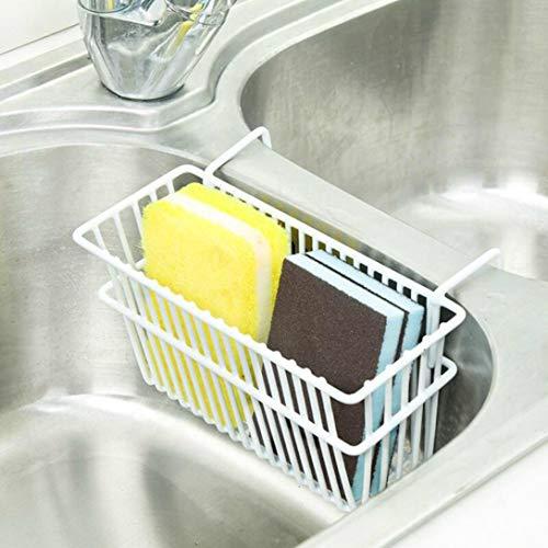 Binmer Draining Rack, Kitchen Sink Rack Sponge Soap Drain Holder Bathroom Hanging Caddy Basket Shelf - Wine Hanging Caddy