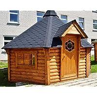 Junit Grillhütte XXL Holz braun BBQ Hut