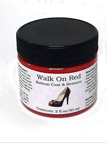 Walk On Red Bottom Coat & Restorer Angelus Brand Acrylic Leather Paint for Christian Louboutin Heels Only Contents: (2 fl. oz / 60 ml)