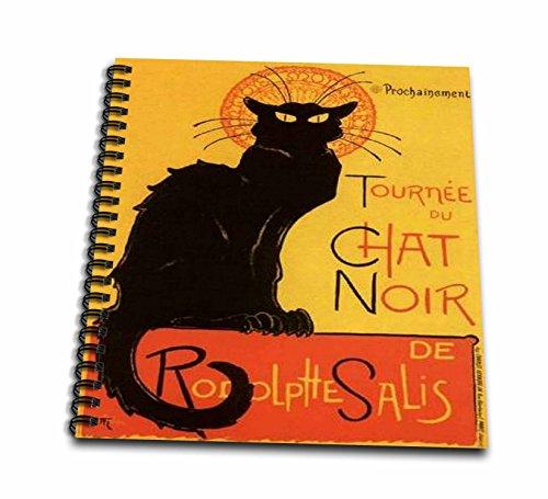 - 3dRose Taiche - Vintage Posters - Cats - Le Chat Noir - advertising, art nouveau, black cat, cat, cats, chat noir, le chat - Memory Book 12 x 12 inch (db_46907_2)
