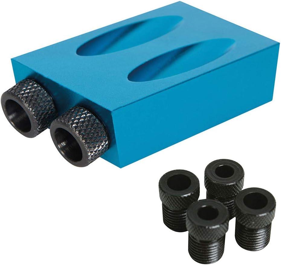 14 pezzi 15 gradi foro tascabile vite Jig con punte da trapano falegnameria foro inclinato strumento per la lavorazione del legno blu
