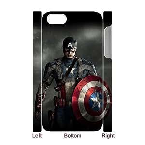 C-EUR Diy hard Case Captain America customized 3D case For Iphone 4/4s