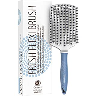 Osensia Curly Hair Brushes for Women with Nylon and Boar Bristle Brush for Women - Detangling Brush for Black Natural Hair - Hair Detangler Paddle Hair Brush for Thick Hair Women