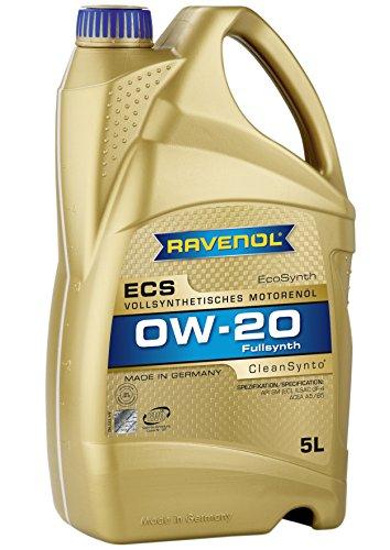 RAVENOL J1A1502 SAE 0W-20 Motor Oil - ECS Full Synthetic API SN / SM & ILSAC GF-4 / GF-5 Licensed (5 Liter)