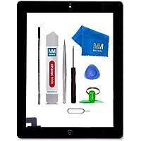 MMOBIEL Digitizer Display Glas für IPad 2 (Schwarz) 9.7 Inch Touchscreen Ersatzteil Inkl Flex Home Button + Kamera Halterung + Klebesticker und Werkzeugset mit Anleitung