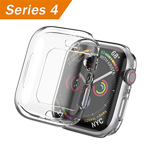SIRUIBO Compatible with Apple Watch Series 4 Screen Protector 40mm, Soft Slim Full-Around Protective iWatch 4 Case Cover for Apple Watch 4, Clear