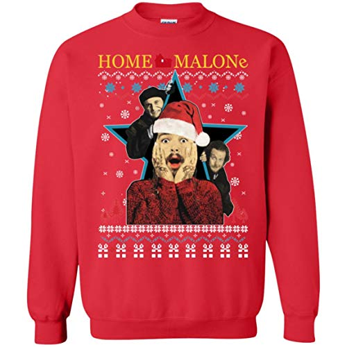 TeePowers Home Malone Funny Home Alone Movie Ugly...