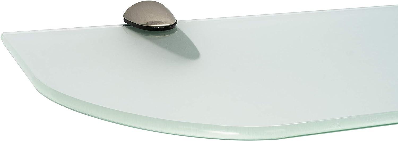 ib style/® Glasregal 6mm |inkl Befestigungsclip CLASSICO Edelstahloptik Klar 11 Gr/ö/ßen| 2 Dekore 40 x 15 cm