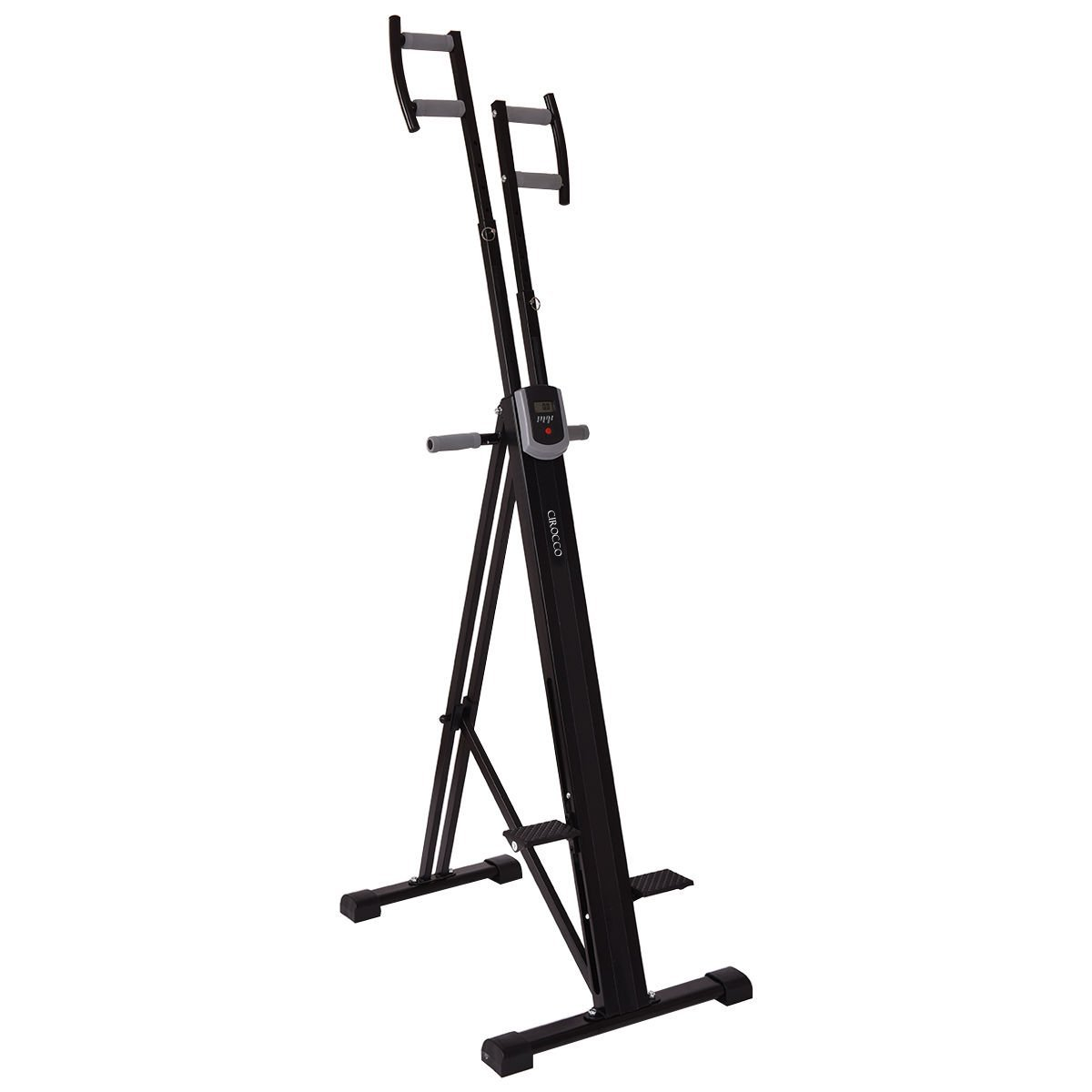Cirocco Folding Stair Stepper Vertical Climber Exercise Cardio Machine w/ LCD Display | Strong Sturdy Total Full Body Aerobic Anaerobic Workout Fitness Equipment for Calorie Fat Burn Leg Bicep Triceps by Cirocco (Image #2)