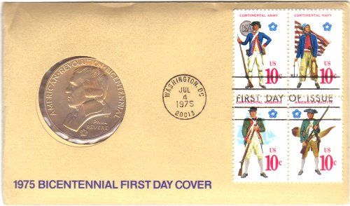 1975-american-bicentennial-commemorative-medal-stamps-first-day-cover-paul-revere