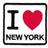 Écusson bügelbild patch iron on patchs motif i love new york