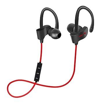ZY Super Bass Auriculares Bluetooth Deportes Auriculares Inalámbricos Sudor Auriculares Estéreo con Micrófono Teléfono Negro,