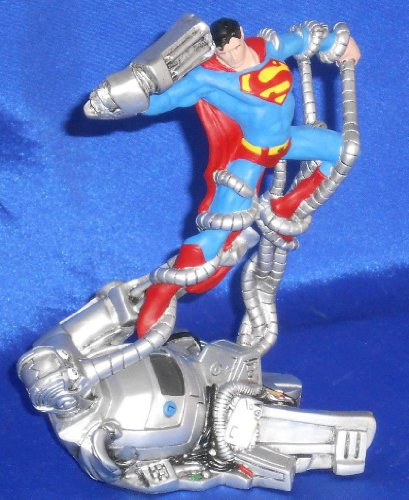 Superman Man vs Machine Hand-Painted Cold-Cast Porcelain Statue 5.5