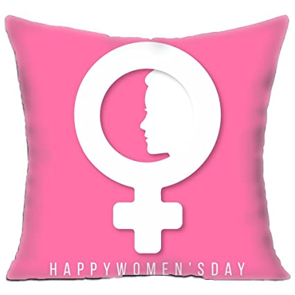 Amazon.com  KITCHOR Custom Womens Day Pink Zippered Cushion Cases ... 4bb51371dc