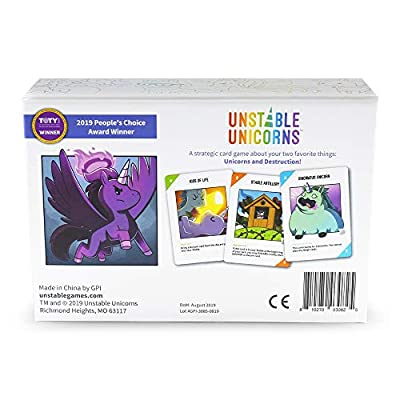 Unstable Unicorns Card Game - A Strategic Card Game and Party Game for Adults & Teens: Toys & Games