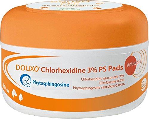 Douxo Chlorhexidine 3% PS Pads 30 Count (Douxo Chlorhexidine 3 Ps Pads For Dogs)