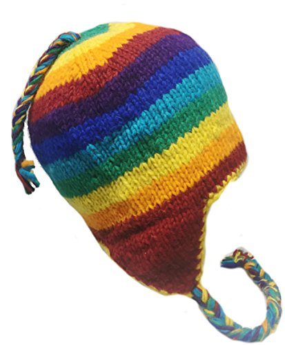 Galleon - Nepal Hand Knit Sherpa Hat With Ear Flaps 7a49065130ca
