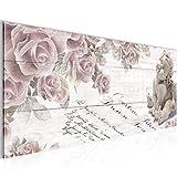 Bilder-Engel-Blumen-Wandbild-Vlies-Leinwand-Bild-XXL-Format-Wandbilder-Wohnzimmer-Wohnung-Deko-Kunstdrucke-Pink-1-Teilig-100-MADE-IN-GERMANY-Fertig-zum-Aufhngen-006012a