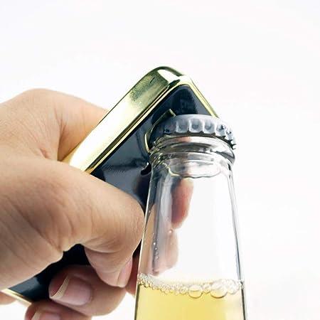 MDWBR Abrebotellas e imán de Barra de Oro Barra de lingotes de Oro Bar de Cerveza Utensilios de Cocina Utensilios de Cocina Plato Accesorios de Cocina, Rosa y Gris