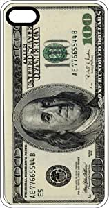 Hundred Dollar Bill Cash Money Ben Franklin Benjamins Clear Plastic Case for Apple iPhone 4 or iPhone 4s