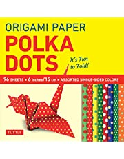 Origami Paper 96 sheets - Polka Dots 6 inch (15 cm): Tuttle Origami Paper: High-Quality Origami Sheets Printed with 8 Different Patterns: Instructions for 6 Projects Included