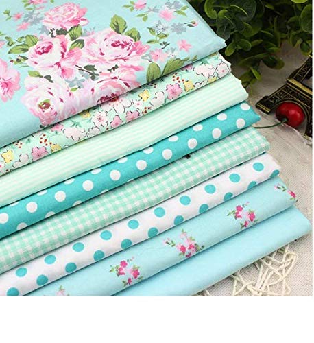 8Pcs/Lots 40x50cm Flower Series Patchwork Cotton Fabric - Fat Quarters for Sewing - Fat Quarters Fabric Bundles Baby - Fat Quarters Fabric Autumn - Patchwork Fabrics for Quilting Sewing Doll Cloth Ba (Baby Oilcloth Bib)