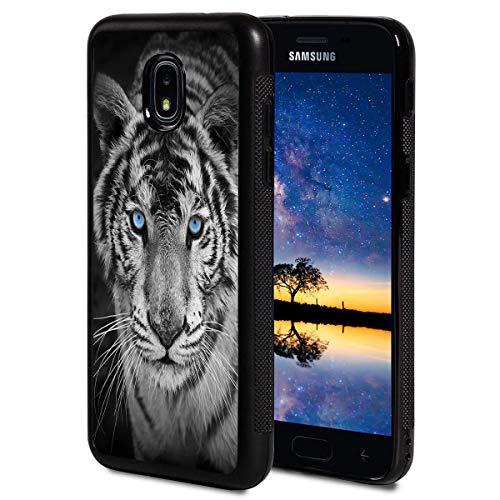 - Galaxy J7 2018 Case,BOSLIVE White Tiger Blue Eyes Background Design TPU Slim Anti-Scratch Protective Cover Case for Samsung Galaxy J7 2018