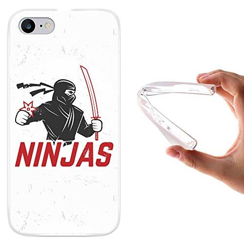 WoowCase Hülle Case für [ iPhone 7 ] Handy Cover Schutzhülle Ninjas