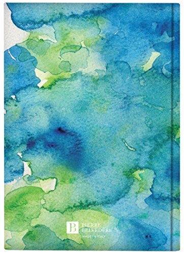 Plateau Collection A5 Hardcover Notebook with Printed Padded Cover, Aquarelle Blue (7706160) Photo #2
