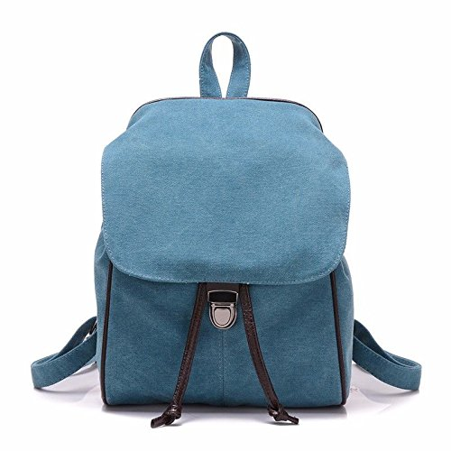 Mszyz Woman Bags, Cloth Bags, Shoulders, Mini Backpacks, Bags Cute Little Fresh Shoulder, Blue Blue