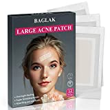 Acne Pimple Master Patch, Large Acne Patches Hydrocolloid Spot Treatment, Efficient And Fast, 12 Strips, Invisible, Tea Tree oil, Facial Stickers