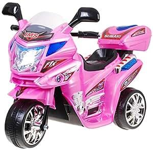 BSD Moto Electrico para Niños Motocicleta Alimentado con Batería Vehículo Eléctrico - F938 - Rosa