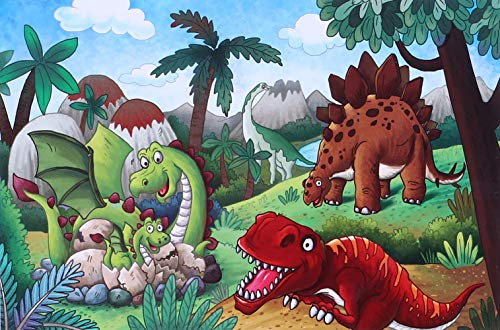 Leehany Dinosaur Jigsaw Puzzles for Kids Age 4-8, 100 Piece Preschool Puzzle Set for Toddlers and Children, Animal Learning Educational Puzzle Toys Great Gift for Boys and Girls(Style 1)