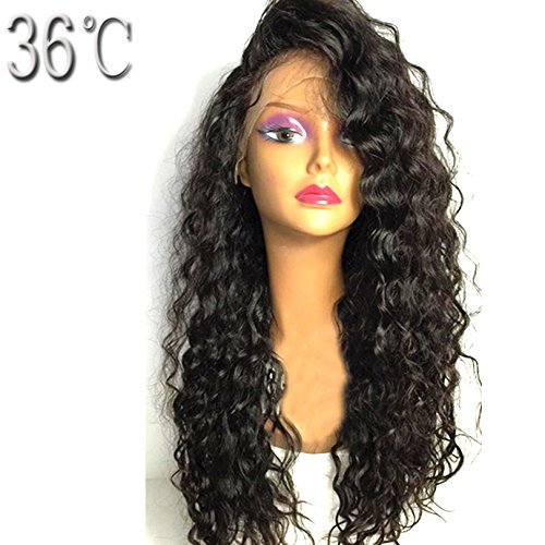 PAFF Brazilian Lace Front Human Hair Wigs for Black Women Kinky Curly Virgin Hair Wigs Glueless Full Lace Human Hair Wigs With Baby Hair Natural Hairline Pre Pluked (16inch, full lace wig) by PAFF