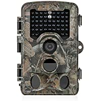 Distianert Trail Camera 16MP 1080P Wildlife Game Camera Low Glow Black Infrared Scouting Camera Deer Camera 80 Foot Detection Range for Wildlife Monitoring and Home Security