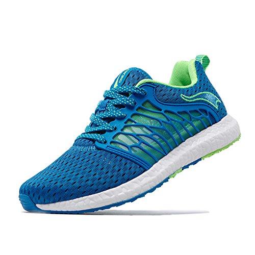 Onemix Loopschoenen 2017 Ademende Schoenen Comfortabele Sneakers Mannen Vrouwen Unisex Schoenen Zomer Royal Blue