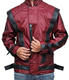 Mens Red Leather michael jackson thriller jacket - christmas gift ideas (3XL)