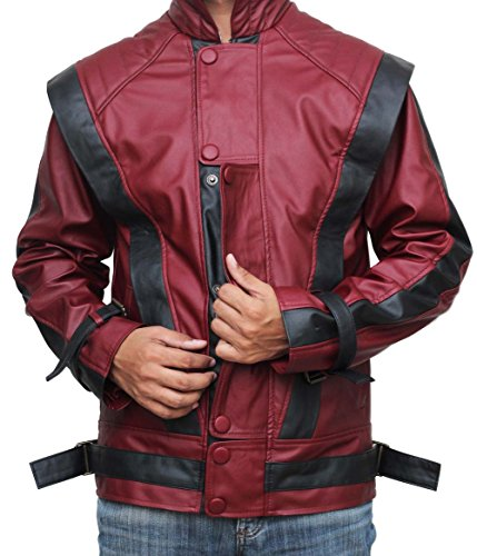 [MJ costume red thriller Halloween costume jacket (XS)] (Mj Thriller Halloween Costume)
