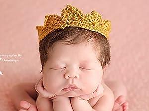 Newborn Crown, Baby Boy Photo Prop, Infant Photography Prop, Gold