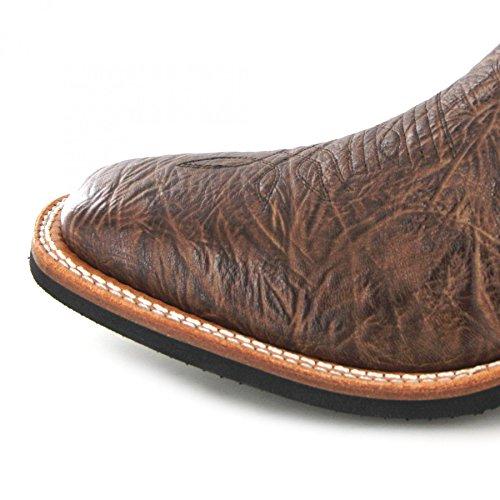 Bottes américaines - Bottes Cowboy BO-5262-E (pied normal) - Homme - Cuir - marron