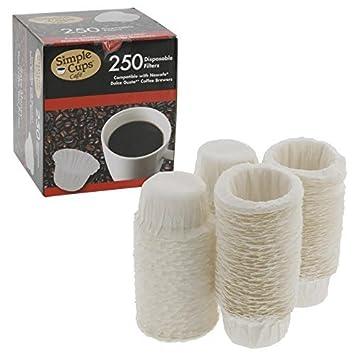 Nescafe filtros desechables de café Nespresso (250 unidades) - para uso con Melody, Genio/Picolo y Mini Me, no Circolo y Esperta: Amazon.es: Hogar