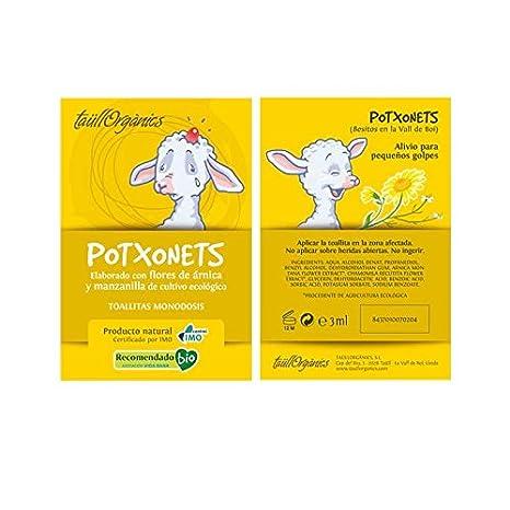 TaüllOrganics -Árnica Infantil - Potxonets Pack de 5 toallitas árnica monodosis para pequeños golpes con gel de árnica y manzanilla uso infantil: Amazon.es: ...